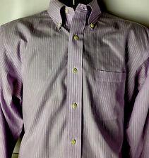 Brooks Brothers 346 Oxford Dress Shirt Slim Fit Non Iron Striped Purple Sz 16/35