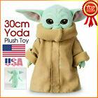 "12"" /30cm Baby Yoda The Mandalorian Force Awakens Master Stuffed Doll Toys Child"