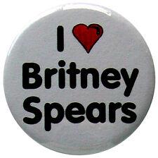 i heart Britney Spears badge - 25mm (1 inch) i love