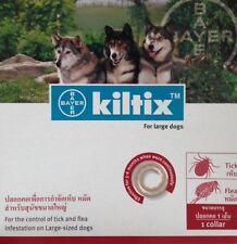 3X Kiltix Dog Collar size L Tick Flea neckless 5 months control Large Bayer