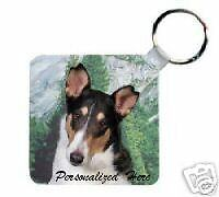 Collie Smooth Personalized Breed Key Chain