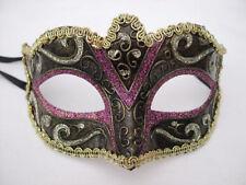 Venetian Masquerade Mask Fancy Dress Party Multi Color PINK GOLD BRONZE Glitter
