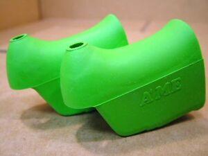 New-Old-Stock Brake Lever Hoods (Non-Aero)...Light/Lime Green Color