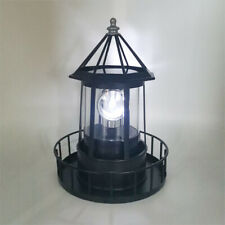 Lighthouse Solar LED Light Garden Outdoor Rotating Lamp Yard Outdoor Decor