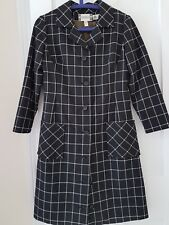 Stunning Vintage Blue/white checked wool coat