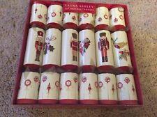 Bnib Nuevo Laura Ashley 12 Navidad Crackers - Rojo Cascanueces - Premium Regalos