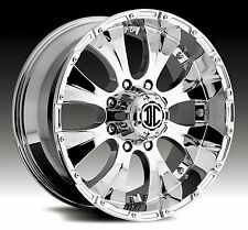 16x8 2Crave Extreme NX2 Chroem Off-Road Rims Lifted Fitment Wheels