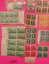 Unused Stamps 48 Some In Blocks Lot#3
