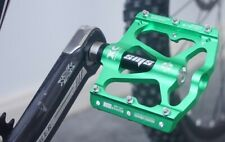 SMS Road BMX MTB Bike Bicycle 3 sealed Bearings Pedals flat Platform Pedal Green