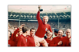 FIFA World Cup 1966 England Poster Prints Wall Art Football Gloss Pictures