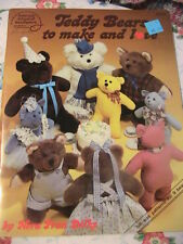 TEDDY BEARS to make and love~Nora Dilks 1984 *RARE cloth art doll patterns