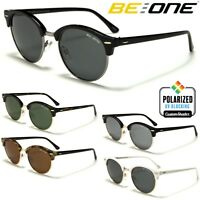 Be One Polarised Sunglasses -Stylish Round Half Rimmed Frame- Unisex Polarized