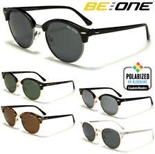 Be One Polarised Sunglasses -Stylish Round Half Rimmed Frame- Unisex Polarized
