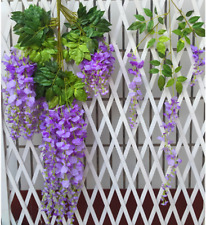 Wisteria Flowers Vine Silk Flower Wedding Garden Party Hanging Decor Peachy