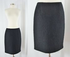 Strenesse Gabriele Strenhle Size 6 Black Fuzzy Pencil Skirt