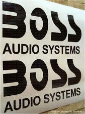 "x2 BOSS AUDIO SYSTEMS Die Cut High Cast Vinyl Decals Stickers Audio Logos 12"""