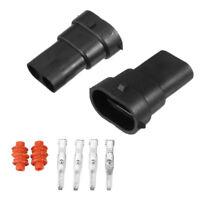 2*H8/H9/H11 880 881 Male Connector HID/LED Plug Socket Adaptor Wiring Harness BA