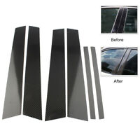 Carbon Fiber Car Window B Pillar Trim Cover For BMW 3 Series E90 2005- 2012 New
