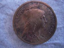 """FRANCE Republique Francaise 1917 Bronze 10C Centimes """"Excellent-Very Fine"""" WWI"""