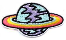 Planet Space Iron On Patch- UFO Kids Fancy Dress Up Applique Crafts Badge Sew