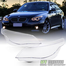 New Left+Right BMW E60 E61 5-Series Replacement Headligt Cover Headlamps Lens