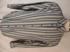 Tommy Bahama Mens Blue Green Stripe Long Sleeve Silk Shirt XL
