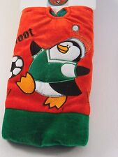 20 IN Red Green Penguin Soccer Sports MINI TABLE TREE SKIRT CHRISTMAS DECORATION