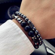 LC/_ 4 pièces Homme Evil yeux multi couche perles réglable fait à la main