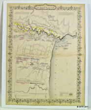 Crimean War Battle Of The Alma Color Map Sevastopol 1854 Ukraine Turkey Russia