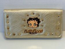 BETTY BOOP TRI-FOLD WALLET #059 FACE DESIGN GOLD