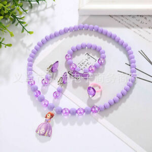 Children Gift Colorful Jewelry Girls Princess Beads Necklace Baby Kids Toddlers