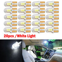 20x T10 194 168 W5W COB 4 SMD LED CANBUS Silica Bright White License Light Bulb