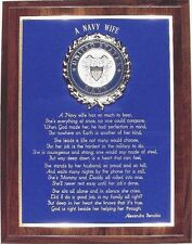 A NAVY WIFE PLAQUE - MAKES A WONDERFUL PATRIOTIC GIFT !