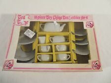 Vintage Toy China Tea Set In Org Box ~ Service For 4 ~ 16 Piece No J-1207 Japan