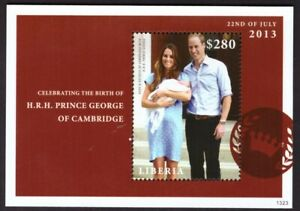 Liberia 2013 kate and william Birth Of Prince George Sheet Of 1 Stamp #2623