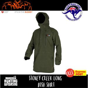 Stoney Creek Long Bush Shirt - Bayleaf, Windproof Hunting Jacket,