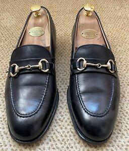 New & Lingwood Men's Black Buckle Loafers UK 7.5 - Made in England - VVGC