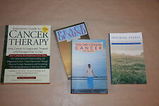Lot of 4 x Cancer Books; Everyone's Guide to Cancer Therapy & 3 Ian Gawler Books