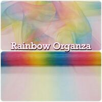 RAINBOW ORGANZA VOILE THEATRE CHILDRENS FABRIC MATERIAL 150 cm wide NHS PRIDE