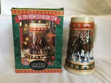 Budweiser 1994 Holiday Christmas Clydesdales Beer Stein