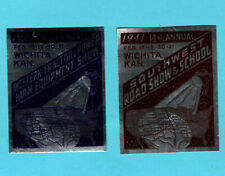 Opc 1941 Wichita Kansas Road Show Foil Poster Stamps Mint