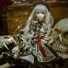 1/4 1/3 BJD Outfit Clothes Multi Element Lolita Spliced Dress+Sleeves+Headwear