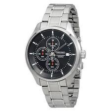 Seiko SKS539P1 Men's Chrono Black Dial Steel Bracelet Date Watch
