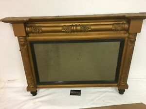 Antique Neo Classical Over mantle Mirror