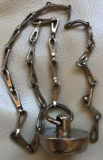 Victorian Sold Brass Plug & Chain.