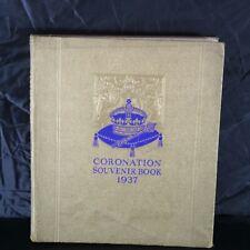 King George VI Royal Coronation Souvenir Vintage Book 1937
