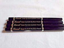 4 x Laval Twist Up Waterproof Soft Kohl Eyeliner Pencils BLACK Job Lot FREE POST