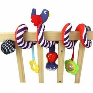 Baby Mobile Crib Music Toy Kid Crib Cot Pram Ringing Bed Bells Spiral Rattle se