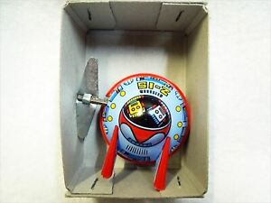 Space Patrol UFO Friction Spring Type with Box Tin Toy Antique Vintage F/S JAPAN