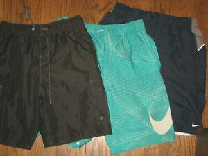Mens swim shorts trunks lot Small bathing suit swimwear Nike Laguna pockets